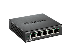 D-Link DES-105 5-port switch, fém ház