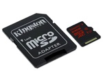Kingston 64GB micro SD kártya, SD adapterrel (SDCA3/64GB)