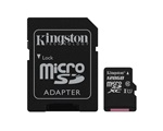 Kingston Canvas Select MicroSDXC memóriakártya, 128GB, CL10 UHS-I, SD adapter