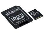 Kingston Canvas Select MicroSDXC memóriakártya, 64GB, CL10 UHS-I, SD adapter