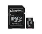 Kingston Canvas Select Plus MicroSDXC memóriakártya adapterrel, 64GB, 100R A1 C10