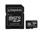 Kingston Industrial Temperature microSDHC memóriakártya, 8GB, CLASS 10 UHS-I, SD Adapter
