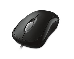 Microsoft Basic Optical Mouse, USB, fekete