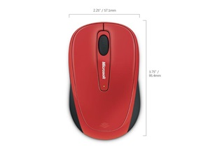 Microsoft Wireless Mobile Mouse 3500 egér, lángvörös